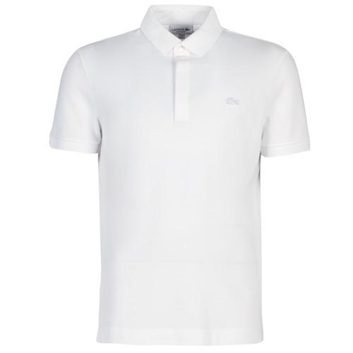 Clothing Men short-sleeved polo shirts Lacoste PARIS POLO REGULAR White
