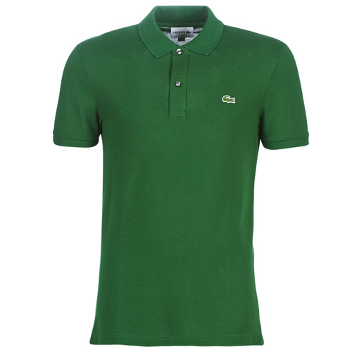 Clothing Men short-sleeved polo shirts Lacoste PH4012 SLIM Green