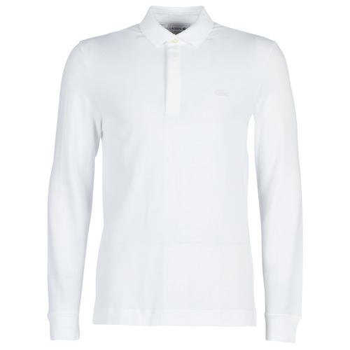 Clothing Men long-sleeved polo shirts Lacoste PH2481 REGULAR White