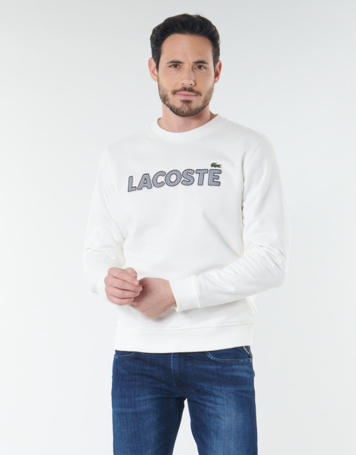 Clothing Men sweaters Lacoste SH8632 White