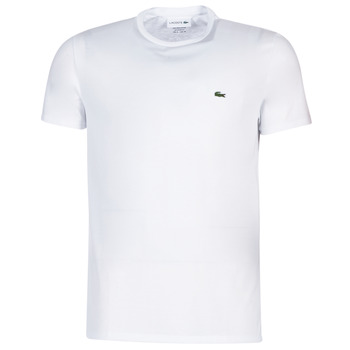 Clothing Men short-sleeved t-shirts Lacoste TH6709 White