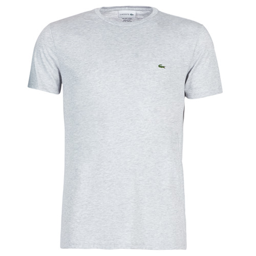 Clothing Men short-sleeved t-shirts Lacoste TH6709 Grey