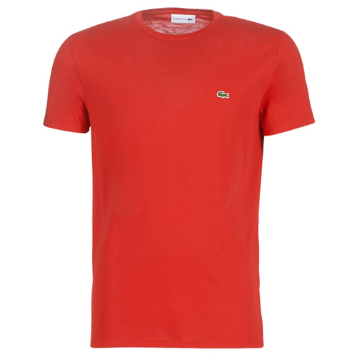 Clothing Men short-sleeved t-shirts Lacoste TH6709 Red