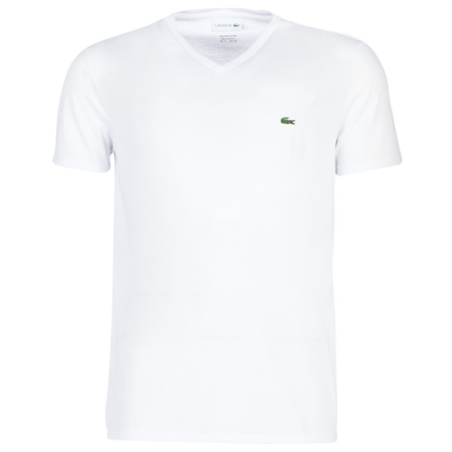 Clothing Men short-sleeved t-shirts Lacoste TH6710 White