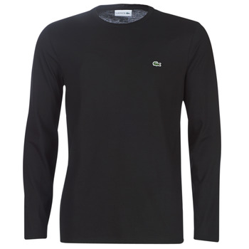 Clothing Men Long sleeved tee-shirts Lacoste TH6712 Black