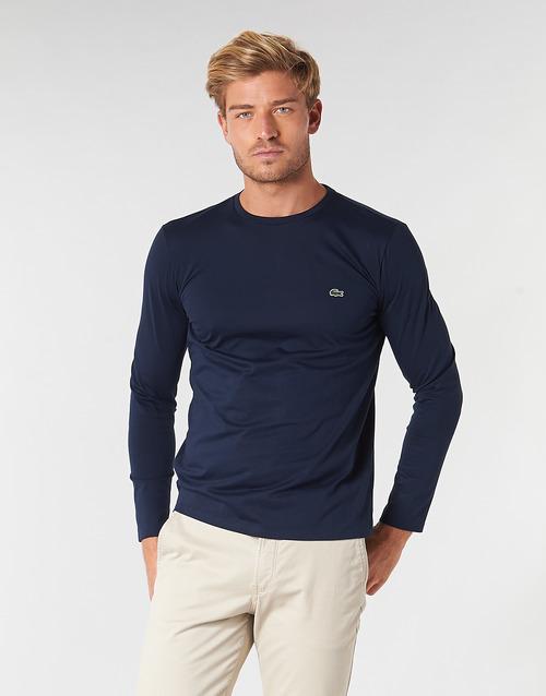 Clothing Men Long sleeved tee-shirts Lacoste TH6712 Marine