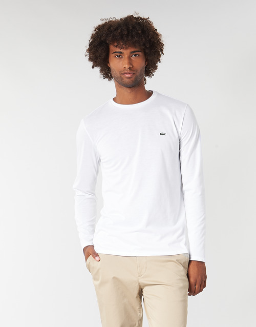 Clothing Men Long sleeved tee-shirts Lacoste TH6712 White