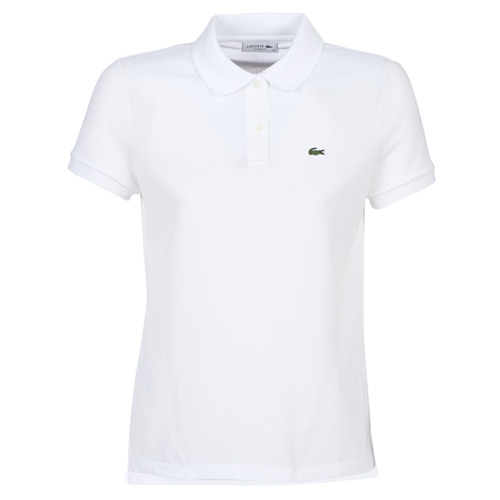 Clothing Women Short-sleeved polo shirts Lacoste PF7839 White