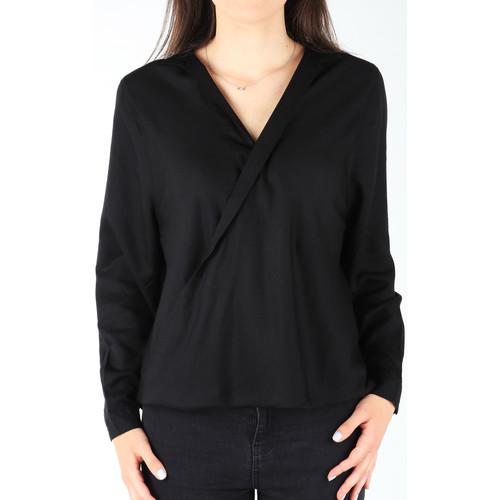 Clothing Women Shirts Wrangler L/S Wrap Shirt Black W5180BD01 black