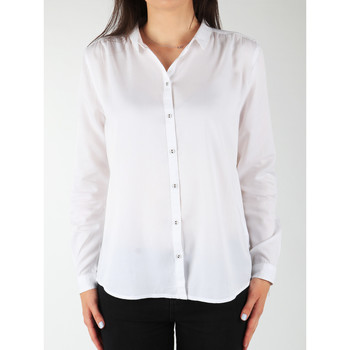 Clothing Women Shirts Wrangler L/S Relaxed Shirt W5190BD12 white