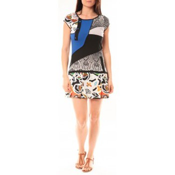 Clothing Women Short Dresses Bamboo's Fashion Robe BA1513 Bleu Blue