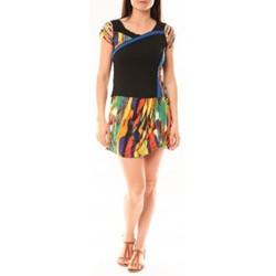 Clothing Women Short Dresses Bamboo's Fashion Robe BA1508 Orange Orange