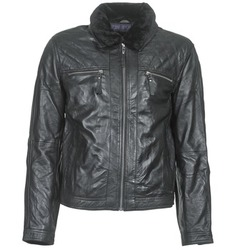 Clothing Men Leather jackets / Imitation leather Teddy Smith BLEATHER Black