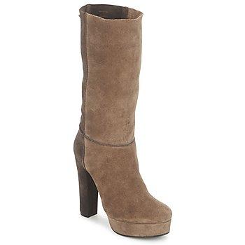 Shoes Women Ankle boots Maki Uehara SHIGE Taupe / Ebony