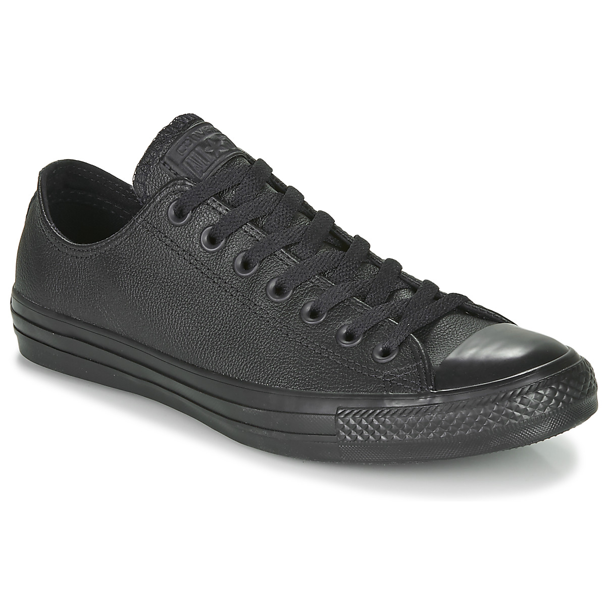 converse all star leather ox black free delivery with spartoo uk shoes low top trainers. Black Bedroom Furniture Sets. Home Design Ideas