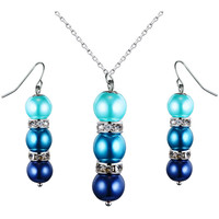 Watches Women Jewelerry sets Blue Pearls OCP 0202 Multicolored