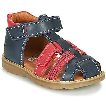 Shoes Boy Sandals GBB MACARON Marine / Red