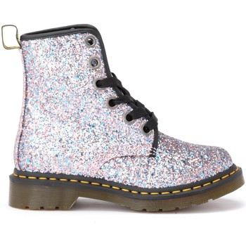 Shoes Women Mid boots Dr Martens Amphibious boot model 1460 in multicolor glittery leather Blue