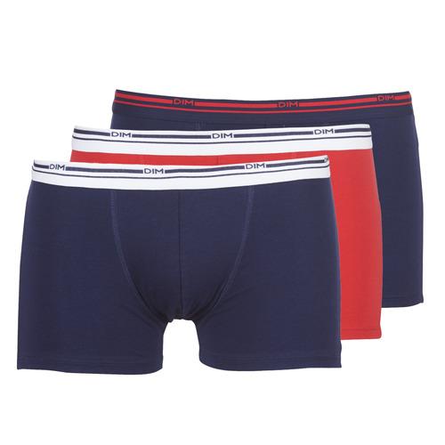 Underwear Men Boxer shorts DIM DAILY COLORS BOXER x3 Blue / Red
