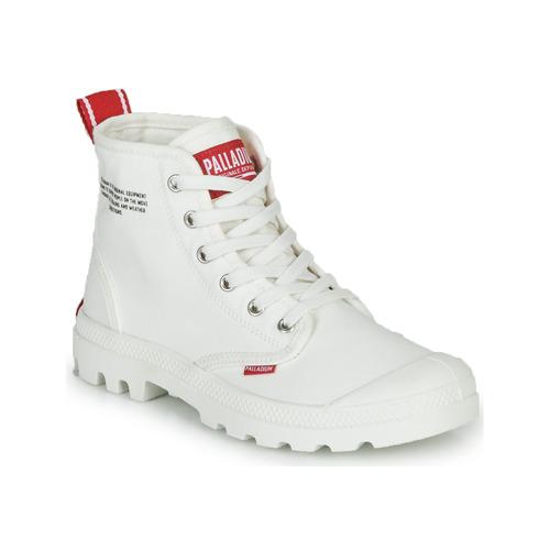 Shoes Mid boots Palladium PAMPA HI DU C White