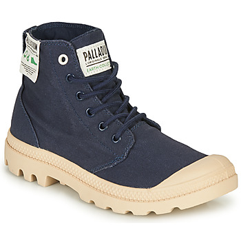 Shoes Women Mid boots Palladium PAMPA HI ORGANIC Blue