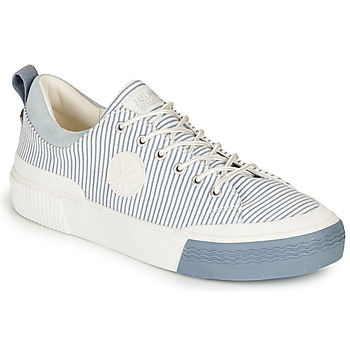 Shoes Women Low top trainers Palladium STUDIO 02 TXT White / Blue