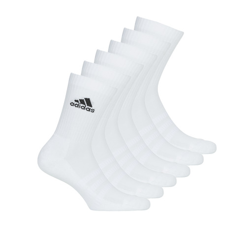 Clothes accessories Sports socks adidas Performance CUSH CRW 6PP White