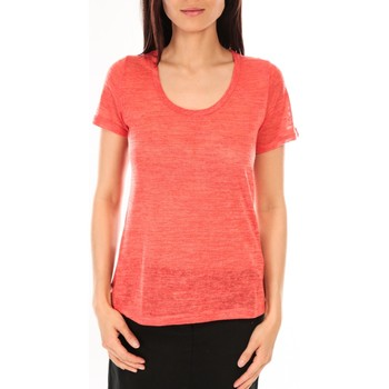 Clothing Women Short-sleeved t-shirts By La Vitrine T-Shirt BLV07 Corail Orange