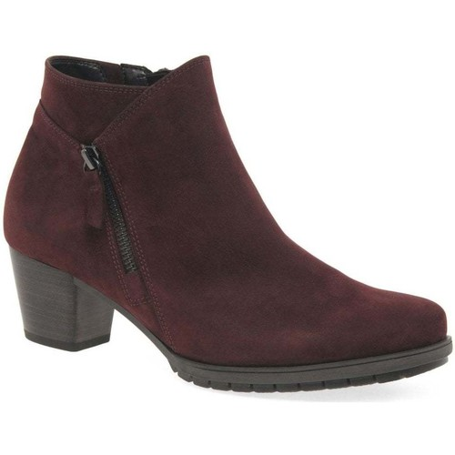 Shoes Women Ankle boots Gabor Olivetti Womens Zip Fastening Ankle Boots red