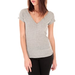Clothing Women Short-sleeved t-shirts By La Vitrine T-shirt dos cache coeur 017 Gris Grey