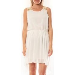 Clothing Women Short Dresses Tcqb Robe NF 702 Blanc White