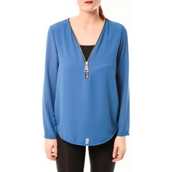 Clothing Women Tops / Blouses Vera & Lucy Chemisier Simple Bleu Blue