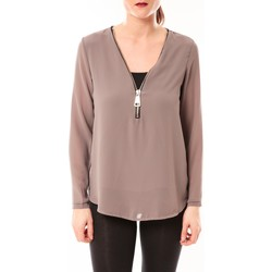 Clothing Women Tops / Blouses Vera & Lucy Chemisier Simple Marron Brown
