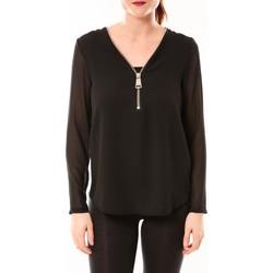 Clothing Women Tops / Blouses Vera & Lucy Chemisier Simple Noir Black