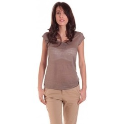 Clothing Women short-sleeved t-shirts Sud Express TEE-SHIRT TARIKA BRONZE Gold