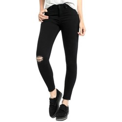 Clothing Women Jeans Lois denim black lua 205312882 Black