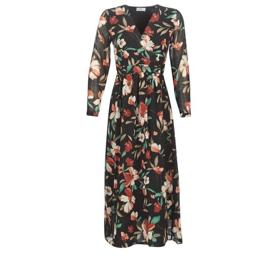 Clothing Women Long Dresses Betty London NOISETTE Black / Multicolour
