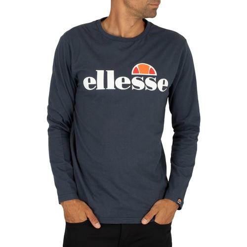 Clothing Men Long sleeved tee-shirts Ellesse Men's SL Grazie Longsleeved T-Shirt, Blue blue