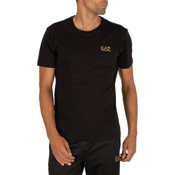 Clothing Men Short-sleeved t-shirts Emporio Armani EA7 Chest Logo T-Shirt black