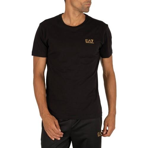 Clothing Men Short-sleeved t-shirts Emporio Armani EA7 Chest Logo T-Shirt black