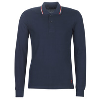 Clothing Men long-sleeved polo shirts Casual Attitude LOUNALI Blue / Marine