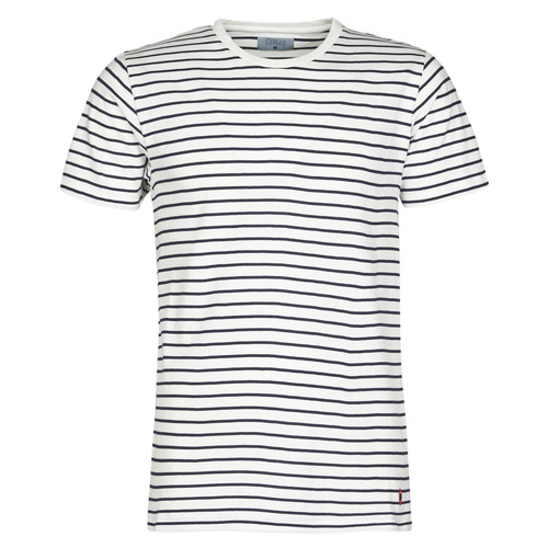 Clothing Men short-sleeved t-shirts Casual Attitude KINO Marine / White