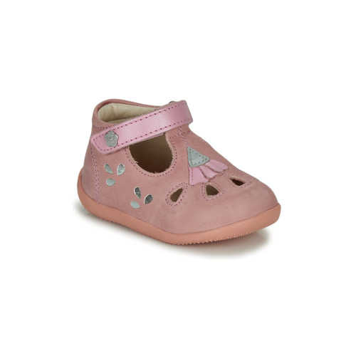 Shoes Girl Sandals Kickers BLUPINKY Pink / Silver