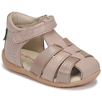 Shoes Girl Sandals Kickers BIGFLO-2 Pink / Metal