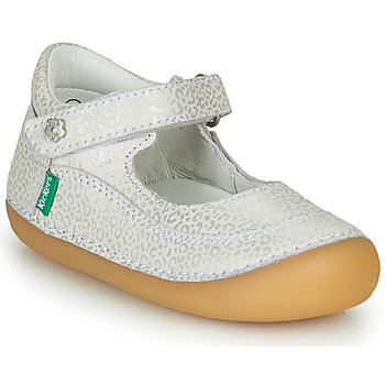 Shoes Girl Flat shoes Kickers SORBABY White / Silver