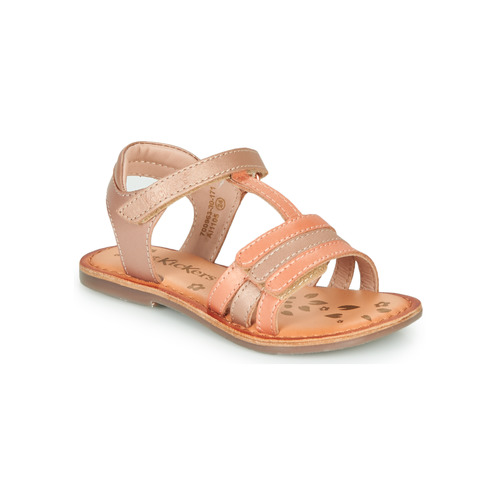 Shoes Girl Sandals Kickers DIAMANTO Pink / Orange