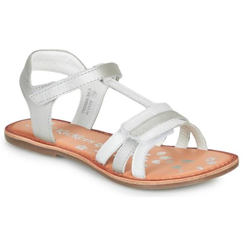 Shoes Girl Sandals Kickers DIAMANTO White