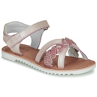 Shoes Girl Sandals Kickers SHARKKY Grey / Pink