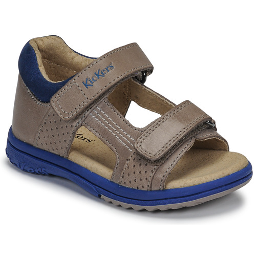 Shoes Boy Sandals Kickers PLAZABI Grey / Blue