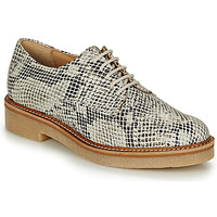 Shoes Women Derby Shoes Kickers OXFORK White / Black / Python